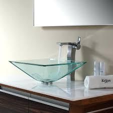 kohler antilia glass sink bathroom stunning design of vessel sinks for cozy square parts vessels console