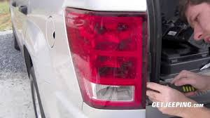 Jeep Cherokee Brake Light Bulb How To Install Of Rear Taillight In A 2005 2010 Jeep Grand Cherokee Wk Getjeeping