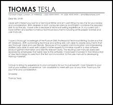 Technical Writer Cover Letter Sample Cover Letter Templates Examples
