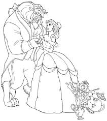 Small Picture Coloring Pages Beauty And The Beast