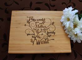 Kitchen Gift For Mom Mothers Day Cutting Board Lasered Engraved Mom Birthday Gift Mom