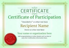 How To Make Certificate Of Participation Sample Text Design