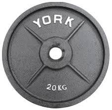 york weights. 20kg olympic weight plates (x1) york weights t