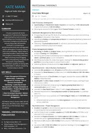 Regional Sales Manager Resume Sample By Hiration