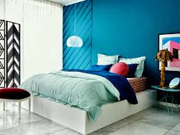 Blue Wall Modern Bedroom Colour Selection For House Choosing The