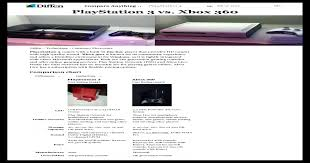 Playstation 3 Vs Xbox 360 Comparison Chart Playstation 3 Vs Xbox 360 Difference And Comparison _