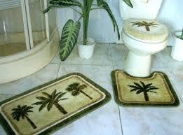 palm tree rug set 3 pieces tropical green palm tree bathroom bath mat rug set by dream palm tree bath rug set