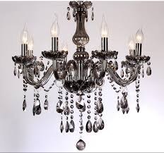 5 6 light led k9 crystal chandelier modern lights smoke gray living intended for new home smoke crystal chandelier plan