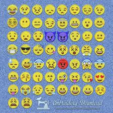 Emoji Embroidery Designs Emoticons Emoji Pack 58 Designs Embroidery Design Instant
