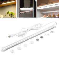 Cheap Led Kitchen Lights 32cm 5w Usb Led Rigid Strip Bar Tube Light Kitchen Cupboard Under Cabinet Lamp With Switch