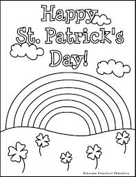 Shamrock Coloring Page Shamrocks Coloring Pages Coloring Pages For St Day Bright Design Of