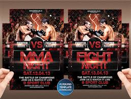 fight or mma night flyer template by grandelelo on fight or mma night flyer template by grandelelo