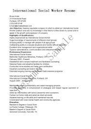 Social Worker Resumes Objective For Work Internship R Sevte