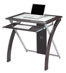 Elegant Glass Computer Tables For Home Small Glass Top Computer Desk  Interior Design