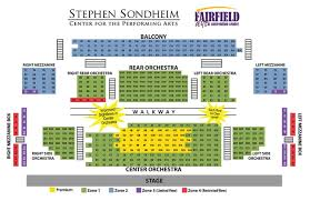 Virginia Theater Seating Chart Fairfield Arts Convention Center