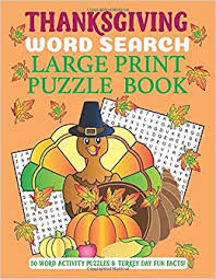 Thanksgiving Word Search Large Print Puzzle Book 50 Word