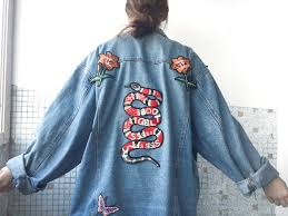 gucci inspired. diy: gucci inspired patch denim jacket i