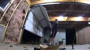 image of low headroom garage door installation
