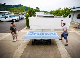 Extreme Ping Pong Ephemeralist Table Public Outdoor Ping Pong 3 Custom Ping Pong