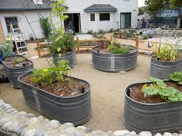 Kitchen Garden Trough Stock Tanks Used As Raised Vegetable Beds Gardening Pinterest