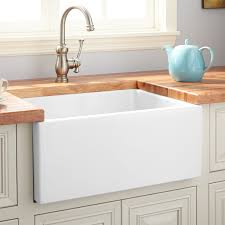 24 adams fireclay lightweight rerversible farmhouse sink smooth a white
