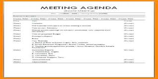 Agenda Of Meeting Formal Meeting Agenda Assignment Point