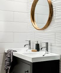 bathroom tile ideas install 3d tiles to add texture to your bathroom the