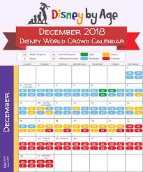 Disney World Crowd Calendar 2018 And 2019