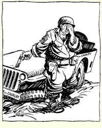 """Image result for Willie and Joe cartoon George Patton"""""""