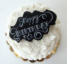 Simple Birthday Cake With Chalkboard Sign Cakecentralcom