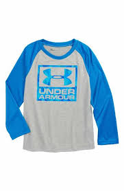 under armour shirts for boys. under armour geo cache long sleeve raglan t-shirt (toddler boys \u0026 little shirts for d