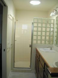 Bathroom: Partial Walls Designs For Interior Glass Block Shower - Curved Glass  Block Shower Wall