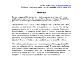 polanski s version of macbeth gcse english marked by teachers com document image preview