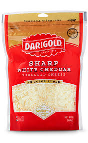 sharp white cheddar. sharp white cheddar cheese - shredded e