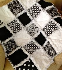 to Order Black and White Baby Rag Quilt. It can be for baby boy or ... & Made to Order Black and White Baby Rag Quilt. It can be for baby boy or  baby ... Adamdwight.com