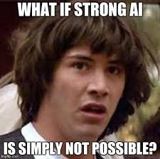 What if Strong AI is just not possible? - Less Wrong via Relatably.com