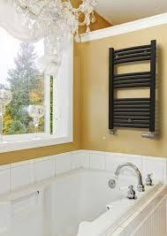 Hot water towel radiator / electric / steel / chrome SPACE RADOX ...