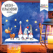 Mini Fensterbild Weihnachten Fensteraufkleber Winter