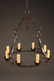 home lighting chandeliers iron chandeliers late 19th century french wrought