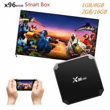 X96mini x96 Mini TV BOX Android 7.1 Quad Core Smart TV Box 4K 2GB 16GB  Amlogic S905W 2.4GHz WiFi Smart Media Player PK X96w|smart media player|tv  box 2gbtv box - AliExpress
