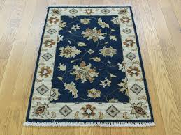 2 x3 hand knotted pure wool mahal fl navy blue oriental rug cwr35372