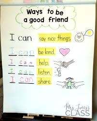 Friendship Chart For School Ways To Be A Good Friend Anchor Chart This Unit Is Perfect
