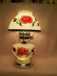 vintage hurricane lamp electric hand painted design ideas