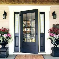 glass front doors wood door designs photos wooden with solid slab throughout plans and exterior stained