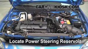 fix power steering leaks ford escort 1997 2003 2002 ford escort 2002 ford escort zx2 2 0l 4 cyl power steering fluid add fluid