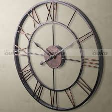 absolutely x large wall clock excellent metal 7 roman full image for innovative 124 extra skeleton art mirror mount dog door stencil uk decor decal