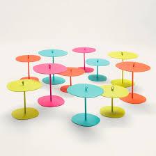 Contemporary <b>side table</b> - varnished <b>aluminum</b> / <b>square</b> / garden