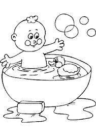 Kleurplaten Baby In Bad Brekelmansadviesgroep