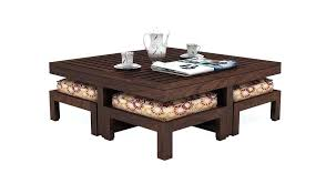 coffee table with stools coffee tables with storage india