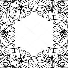 Stock Illustration Abstract Floral Shapes Vector Frame Hoodamath